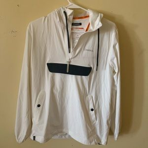 BARREL, anorak jacket, white/black, size M.